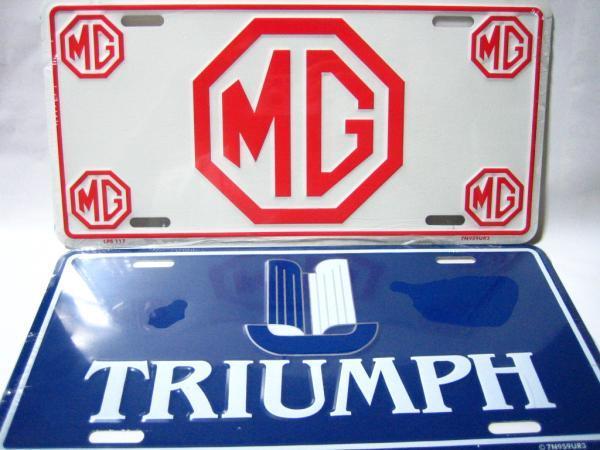 モーリスガレージ&トライアンフ ロゴプレート MG&TRIUMPH