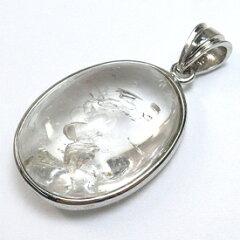 水入り水晶 ペンダントトップ 天然石 パワーストーン ネックレス シルバー925 ペンダント