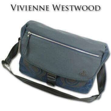 ヴィヴィアンウエストウッド Vivienne Westwood ナイロン/PU ショルダーバッグ メンズ ネイビー 紺 日本製