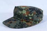 ドイツ軍 ドイツフレクター ウッドランド系 迷彩柄 八角帽 ミリタリーキャップ フレックターン フレックタン サバゲー
