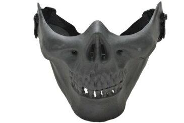 【数量限定価格】スカルライン ハーフマスク スカル 骸骨 ドクロ ガード BK 黒色 M03型 ソルジャー マスク フェイスマスク サバゲ サバイバルゲーム ロアハーフマスク
