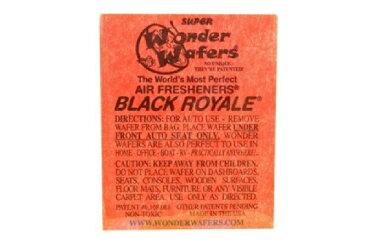 【メール便発送商品 代引き不可】シートタイプ 芳香剤 WONDER WAFER BLACK ROYAL ブラックロイヤル 自動車・部屋・トイレ・ゴミ箱等 多用途芳香剤