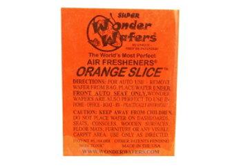 【メール便発送商品 代引き不可】シートタイプ 芳香剤 WONDER WAFER ORANGE SLICE オレンジスライス 自動車・部屋・トイレ・ゴミ箱等 多用途芳香剤