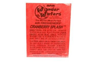 【メール便発送商品 代引き不可】シートタイプ 芳香剤 WONDER WAFER CRANBERRY SPLASH クランベリースプラッシュ 自動車・部屋・トイレ・ゴミ箱等 多用途芳香剤