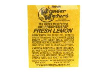 【メール便発送商品 代引き不可】シートタイプ 芳香剤 WONDER WAFER FRESH LEMON フレッシュレモン 自動車・部屋・トイレ・ゴミ箱等 多用途芳香剤