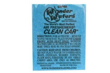 【メール便発送商品 代引き不可】シートタイプ 芳香剤 WONDER WAFER CLEAN CAR クリーンカー 自動車・部屋・トイレ・ゴミ箱等 多用途芳香剤