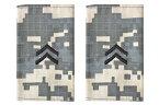 【送料無料 メール便発送商品】1 米陸軍 肩章 エポーレット 2枚入 階級章 1等兵 ワッペン レプリカ ACU迷彩