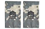 【送料無料 メール便発送商品】5 米陸軍 肩章 エポーレット 2枚入 階級章 1等軍曹 ワッペン レプリカ ACU迷彩