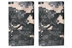 【送料無料 メール便発送商品】1 米陸軍 肩章 エポーレット 2枚入 階級章 1等兵 ワッペン レプリカ ピクセルグレー迷彩