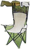 キャノピー BBQチェア 折りたたみ アウトドアチェア 蚊帳付き 防虫ネット付き 椅子 屋根付き 日除け付き(アイボリー)
