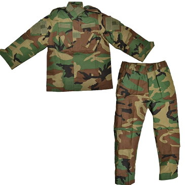 BWOLF製 迷彩服 戦闘服 上下セット ウッドランド M81迷彩 子供 女性用 小さいサイズ