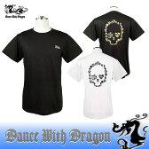 ダンスウィズドラゴン / DANCE WITH DRAGON (春夏モデル!)バックスカルTシャツ/半袖シャツ(メンズ)ダンスウィズドラゴン/ポイント5倍!送料無料!ゴルフウェア/16