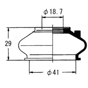 駆動系パーツ, ボールジョイントブーツ  JZX81 DC-1644 OHNO TOYOTA