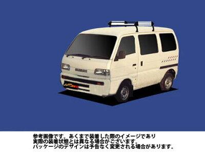 ルーフキャリアスズキSUZUKIキャリィ/DE51V/Hシリーズアルミ素材タフレックTUFREQ精興工業HL22