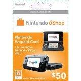 新品WiiU・3DSパーツNintendoeShopCard$50/ニンテンドーイーショップカード50ドル【海外北米版】