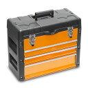 軽量のポリプロピレン製天板とスチール製ボディを採用ツールチェスト 3段式 オレンジ STRAIGHT/...