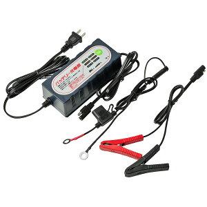 バッテリー充電器_バイク・自動車兼用_トリクル充電/サルフェーション解消機能付き
