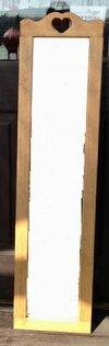 【ハートのミラー姿見】カントリー木工・カントリー雑貨カントリー家具・ナチュラル・アメリカンフレンチ・手作り・かわいい・可愛い・プレゼント・鏡引き出物