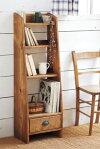 【スリム本棚】収納・本棚・フレンチ手作り・可愛い・アンティーク風・かわいいプレゼント・ZAKKABOOK