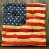 【USAチェアークション】カントリー雑貨・クッション・まくらかわいい・可愛い・プ星条旗アメリカン