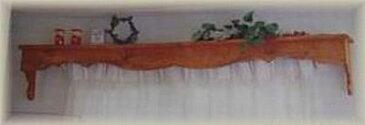 【カーテンボックス】カントリー雑貨・カントリー家具ナチュラル・アメリカン・フレンチ手作り・キッチン・キャスター付・カーテンレール