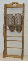 商品名:ハートのスリッパラックカントリー雑貨・カントリー家具・ナチュラルアメリカン・フレンチ・手作りホルダー・スタンド・収納・スリッパ立て