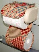 パッチワーク トイレットペーパー カントリー アメリカン ナチュラル プレゼントハート・パッチワーク・トイレカバー