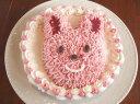 お誕生日の贈り物に♪ かわいい♪うさぎのアイスケーキです。喜ばれます!手作り誕生日アイスケ...