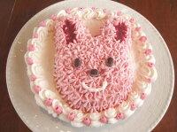 手作り誕生日アイスケーキ・ラブリーウサちゃん6号