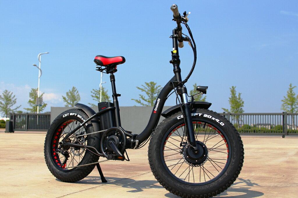 両輪駆動!HYBRID電動ファットバイク自転車G-Cruiser20