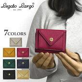 フェイクレザーメール型三つ折りミニ財布