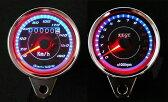 汎用 LED 機械式ミニスピードメーター180km + 電気式 ミニタコメーター ナイトランに!! 4ストミニ モンキー カブ SR