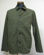 FOBFACTORY(FOBファクトリー)F2394フレンチシャツジャケット-OLIVE