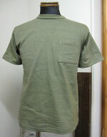 ウェアハウス(WAREHOUSE)Lot4601ポケット半袖TEEシャツ-ダークオリーブ