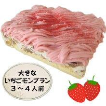 大きな苺(いちご)のモンブラン〜ストロベリークリームとラッシュマロンの渋皮煮のモンブランケーキ〜【スイーツ】【スィーツ】【母の日フェア実施中】