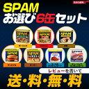 【レビューで送料無料!】ご飯が進む!スパムお選び6缶セットお好きな味を選択して下さい♪