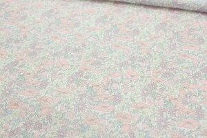 【サンドウオリジナルカラー】リバティプリントタナローン【ラミネート加工】(Poppy&Daisyポピー&デイジー)ベビーピンク