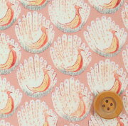 サンドウオリジナルカラー リバティプリント プラリネピンク ピーコックス・オブ・グランサムホール リバティ