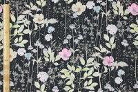 【サンドウオリジナルカラー】リバティプリントタナローン生地(Irmaイルマ)ブラック&ピンク【3633182】リバティ
