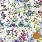 リバティプリント タナローン320(Wild Flowers ワイルド・フラワーズ)モスグリーン&カラフル リバティ