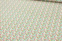 リバティプリントタナローン514(Flutteringフラッターリング)レッド&グリーン【サンドウ限定復刻柄】