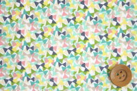 リバティプリントタナローン514(Flutteringフラッターリング)ライトピンク&グリーン【サンドウ限定復刻柄】