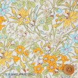 ハローキティ×リバティプリント タナローン(Floral Harvest イエロー)フローラル・ハーベスト【DC29968・J19B】