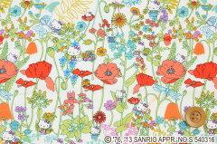 HELLO KITTY × LIBERTY PRINT season4ハローキティ × リバティプリントDC28136(Wild Garden ...