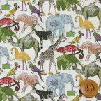 【サンドウ限定復刻色】リバティプリント タナローン生地(Queue for the Zoo/グリーン)キュー・フォー・ザ・ズー【3634160】