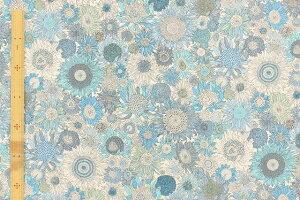 リバティプリント【フランダースリネン】84(SmallSusannaスモール・スザンナ)ブルー