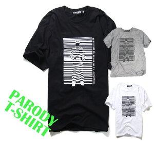 パロディ Tシャツ おもしろ 半袖 Banksy バンクシー Prisoner Barcode 2カラー メンズ レディース ユニセックス デザインTシャツ おしゃれTシャツ ネタTシャツ 個性的 半袖 トップス 夏 おみやげ プレゼント コットン100% M-L 白 黒 ファッション
