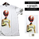 【+graph】グラフィックTシャツ SANDESS 悲しみのバルーン メンズ 春夏秋冬用 コットン100% 白/ベージュ M-L【白 黒 デザインTシャツ パロディTシャツ メンズ Tシャツ 半袖 レディース トップス 夏 おもしろTシャツ 笑えるTシャツ 個性的】