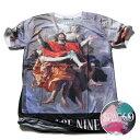 SPACE9 デザインTシャツ GOD 神話 メンズ 夏用 コットン100% M-L【グラフィックTシャツ メンズ デザインTシャツ クラブファッション ストリート系 アニマルプリント 動物プリント】