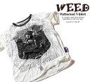 WEED シワ加工 和柄 デザインTシャツ BUDDHA 大仏【デザインTシャツ クシャクシャ加工 イラストTシャツ メンズ 和柄Tシャツ 半袖Tシャツ 夏 ストリート系Tシャツ ユーズド風 】weed006